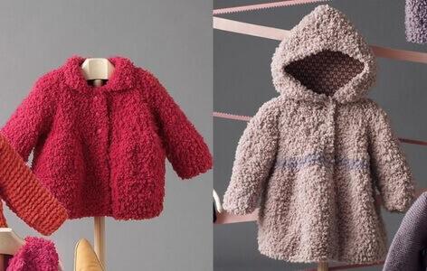 Детские куртки из пряжи Софти