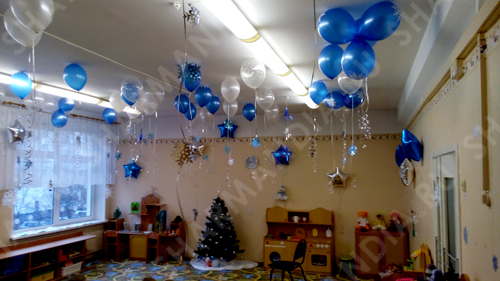 оформление шарами детского сада