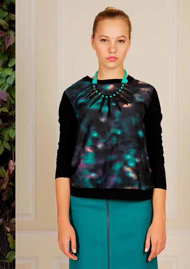 купить Модное зеленое ожерелье-колье Papiroga фото