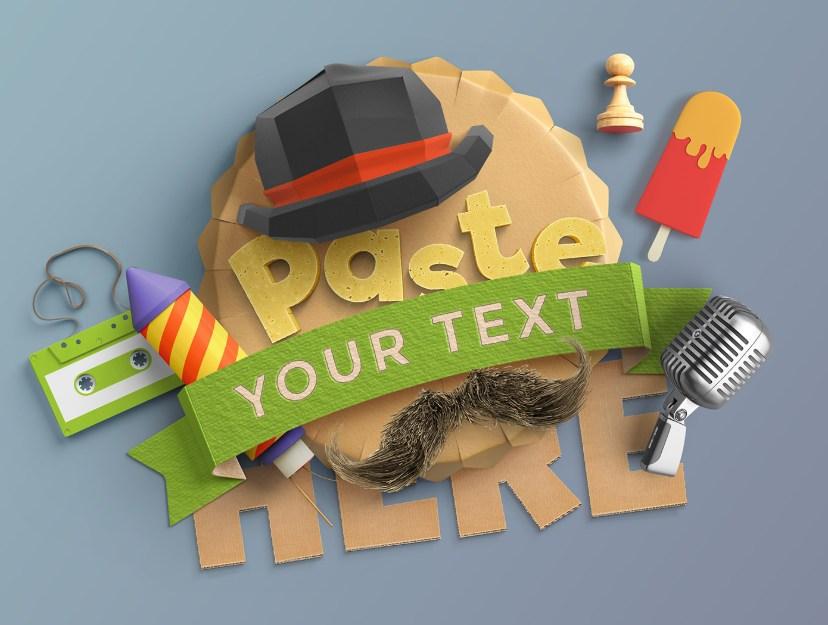 Пример 3D-типографики