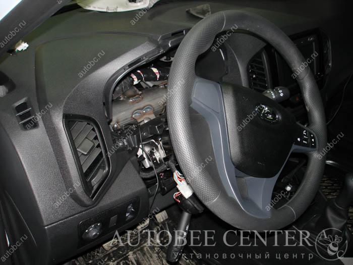 lada xray - установка автосигнализации с автозапуком