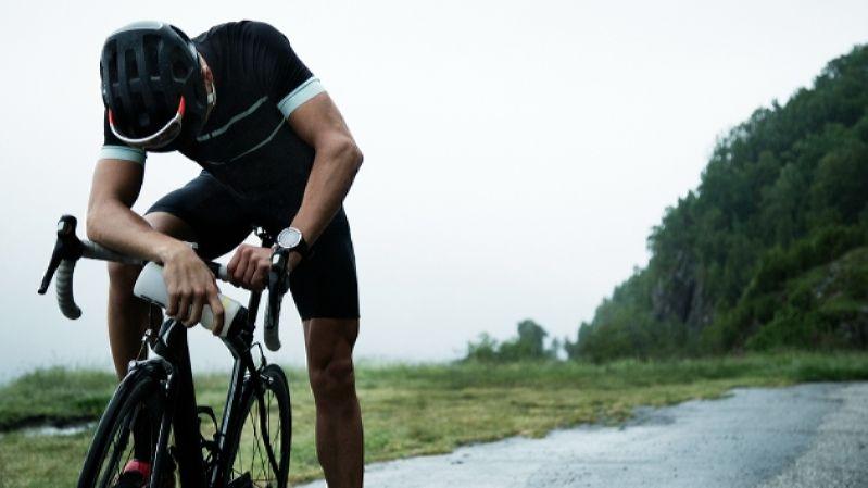 Уставший велосипедист