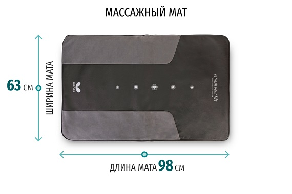 Размеры массажного мата