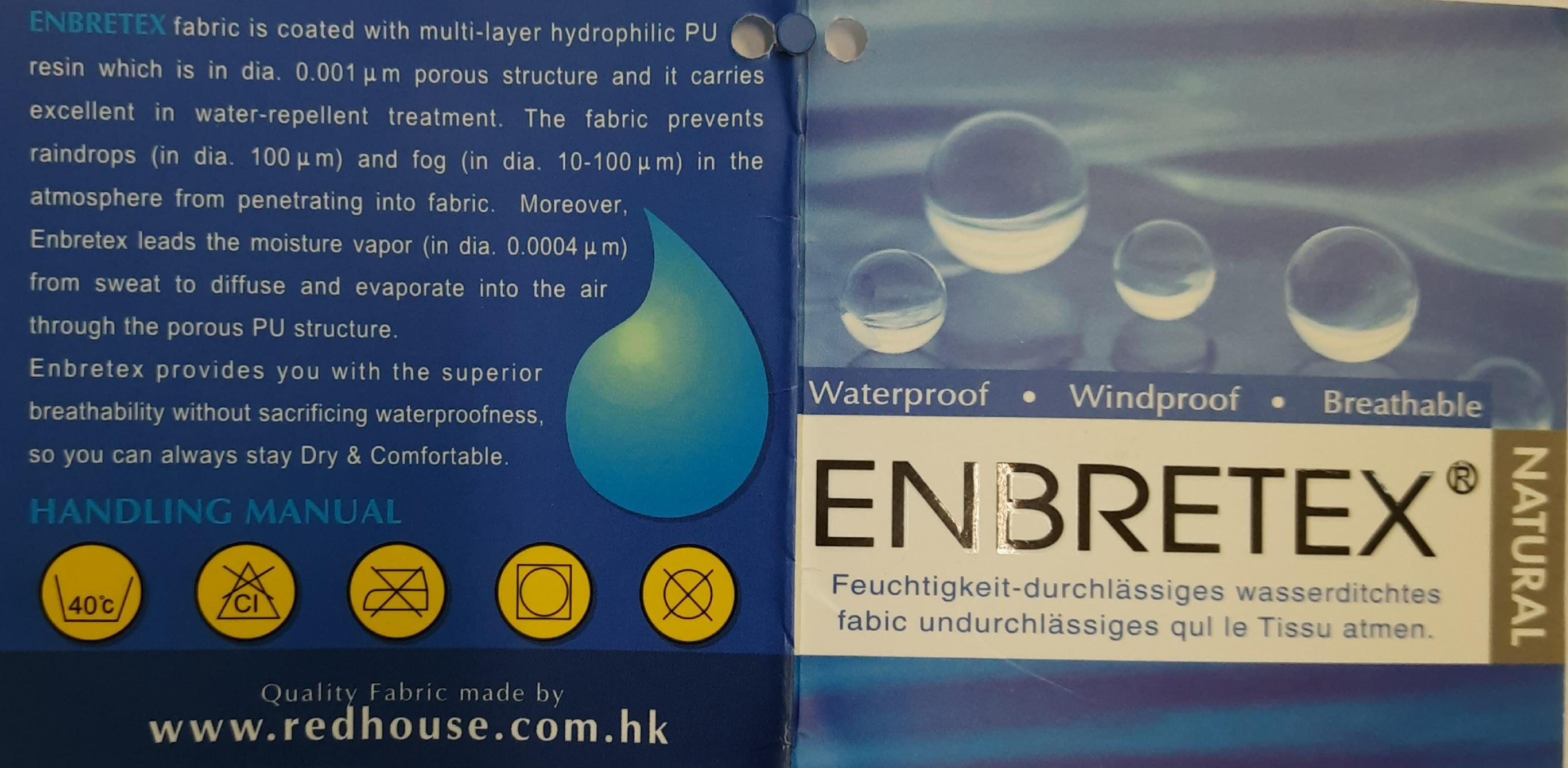 Этикетка мембраны Enbretex