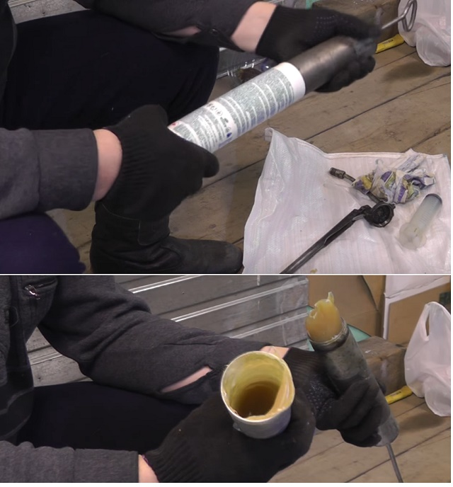 Шприцевание смазки ликви моли