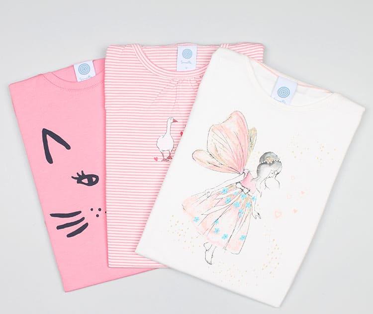 Пижама с принтами для девочек