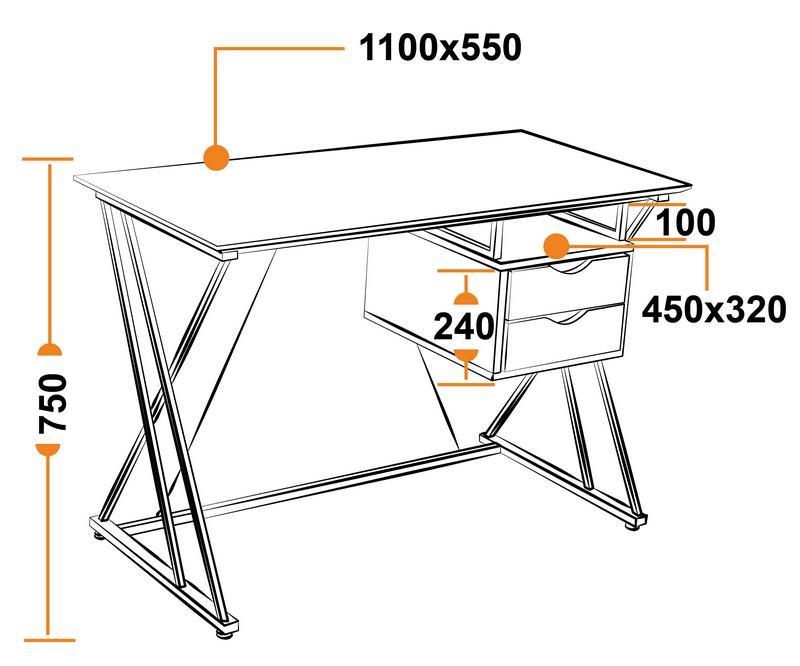 Размеры компьютерного стола WRX-14