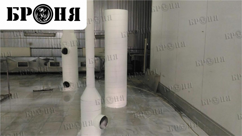 Рязань. Теплоизоляция трубопровода приточной вентиляции