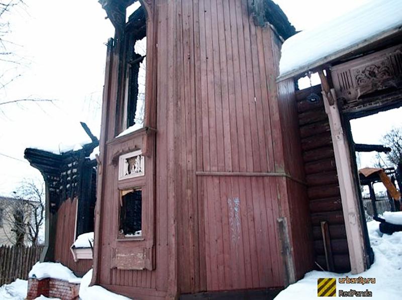 Сгоревшая башня