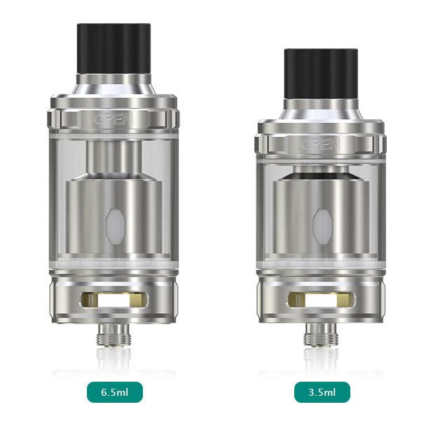 Eleaf MELO 300 поставляется в двух видах баков е-жидкости на выбор: 3.5мл и 6.5мл.