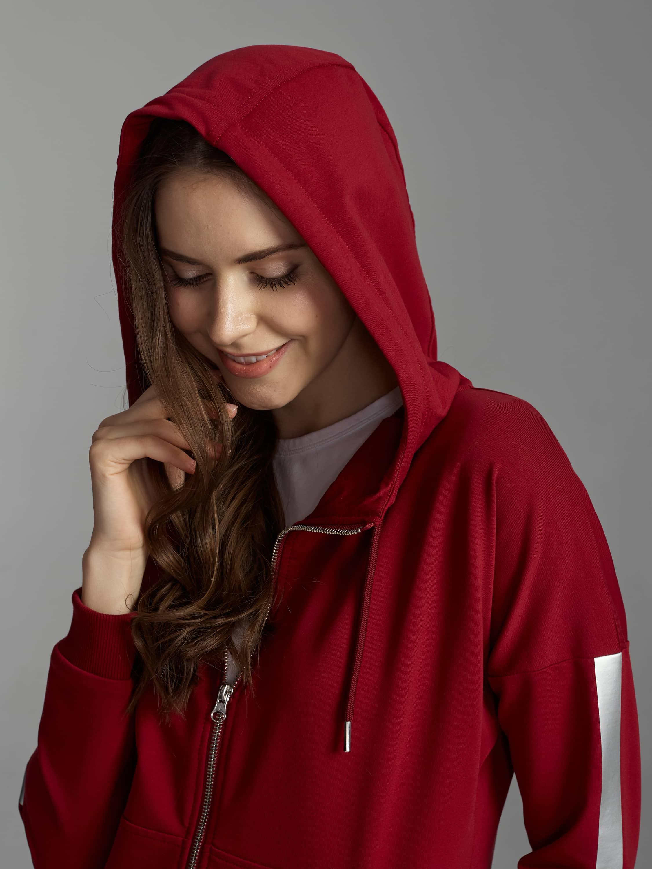 Спортивный костюм женский бордовый