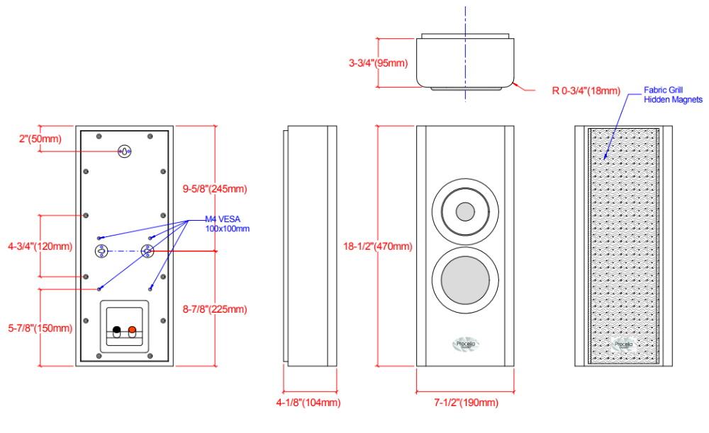 Настенная акустика Procella P5V