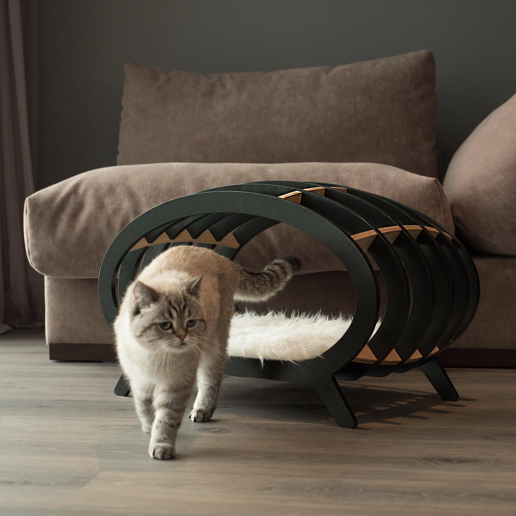 STRIPE дизайнерская лежанка для кошек PETTEL