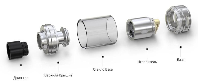 Разборная Конструкция Атомайзера Eleaf MELO 300