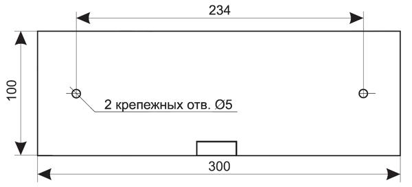 Установочные размеры для комбинированного пожарного оповещателя табло ЛЮКС-12-К-СН / ЛЮКС-24-К-СН