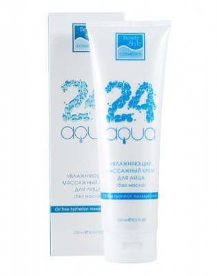 Увлажняющий массажный крем для лица / без масла «Аква 24» Beauty Style, 250 мл купить