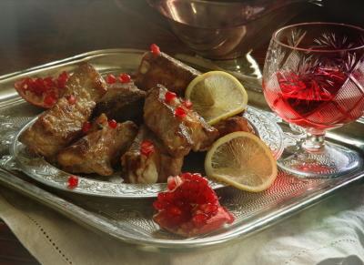 свинина с вином