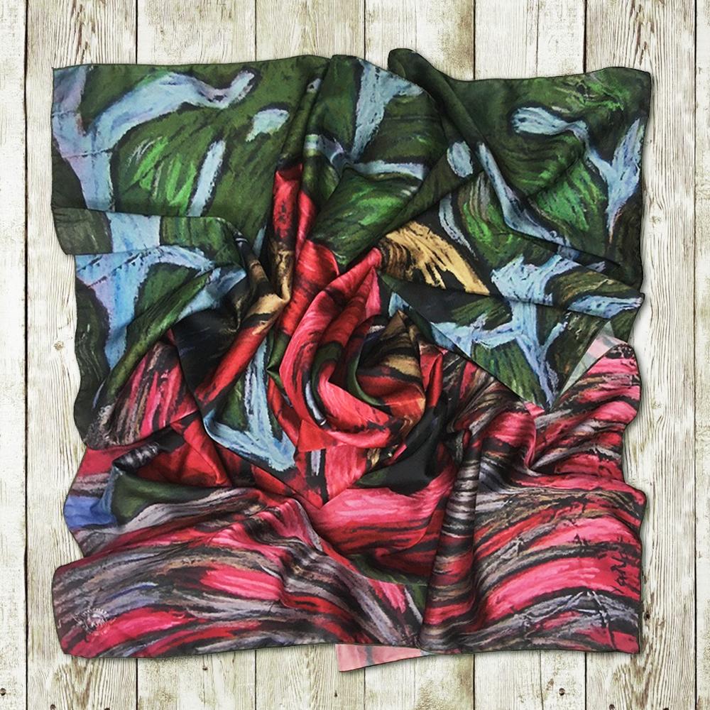 Авторские шелковые платки