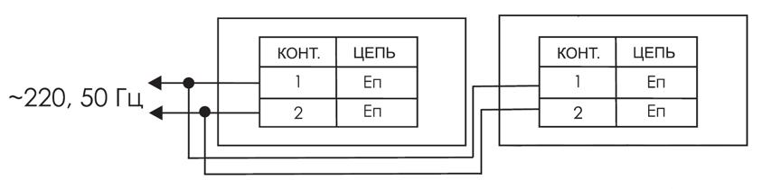 Схема подключения для двухстороннего табло выход ЛЮКС ЛЮКС-12-Д / ЛЮКС-24-Д