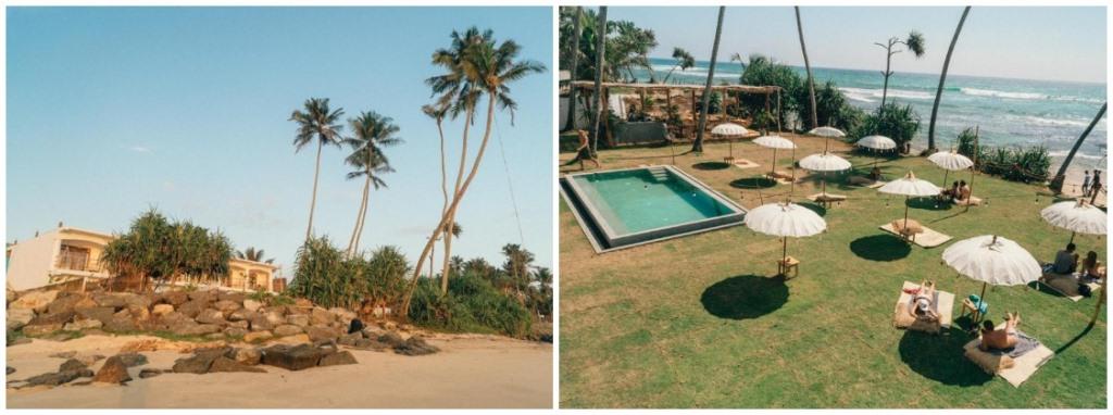 Серф вилла на пляже Шри-Ланки