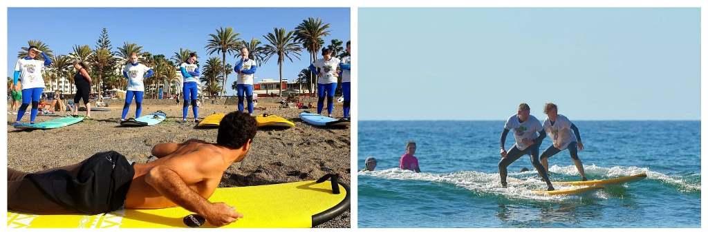 Уроки серфинга на Тенерифе