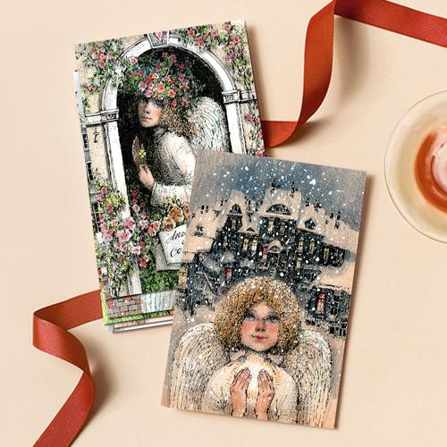 Почтовые открытки с ангелами