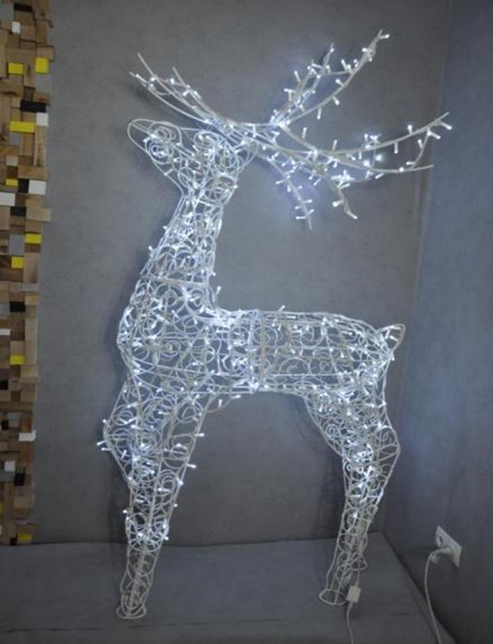 Светодиодная декоративная фигура оленя led