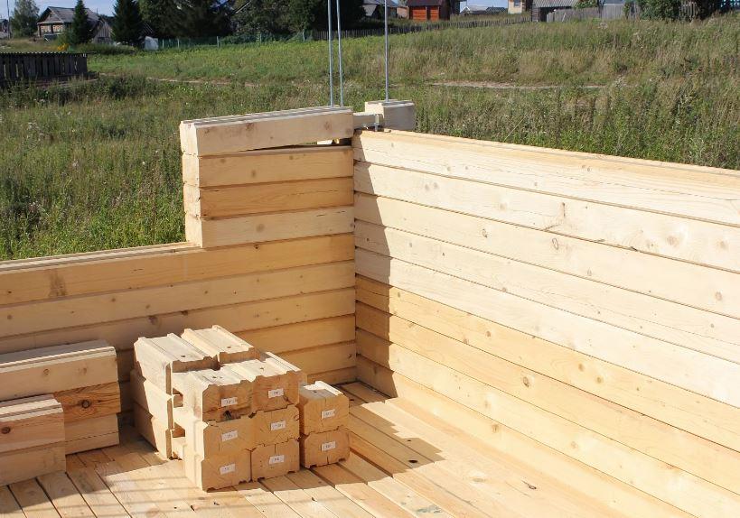 Брус профильный строительство дома