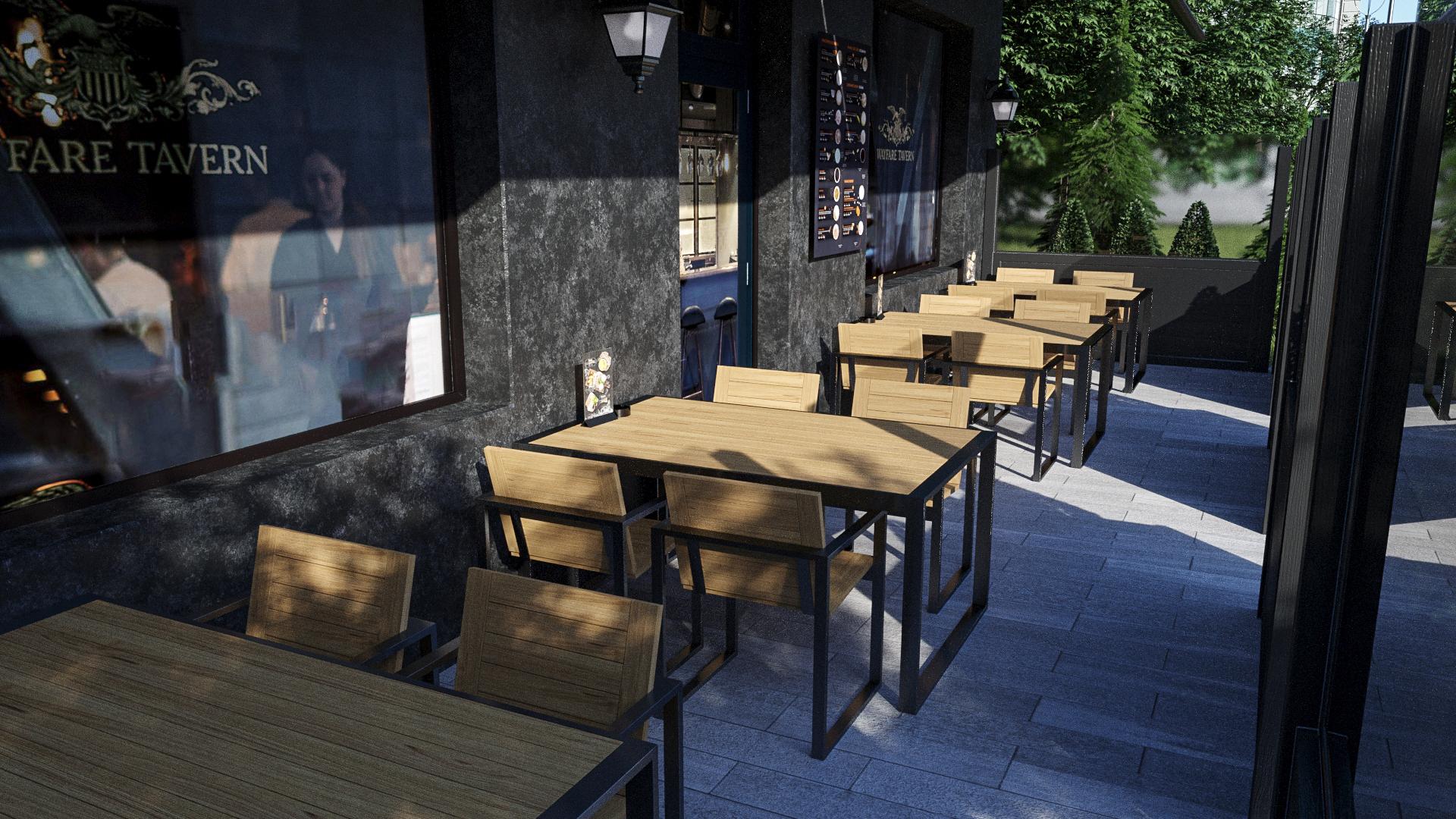 мебель для летних веранд и террас ресторанов