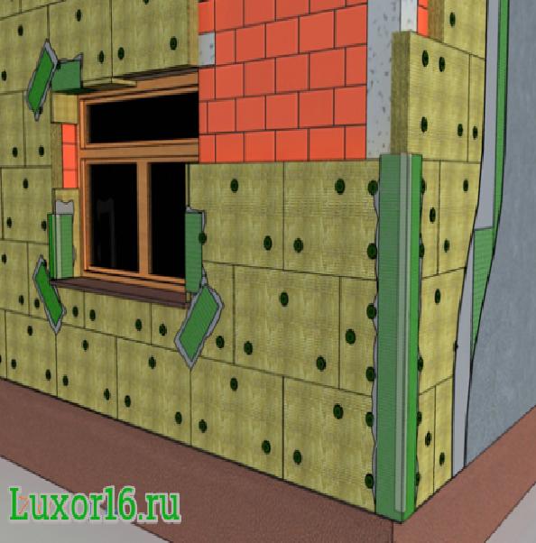 Пример работ Baswool Фасад 120