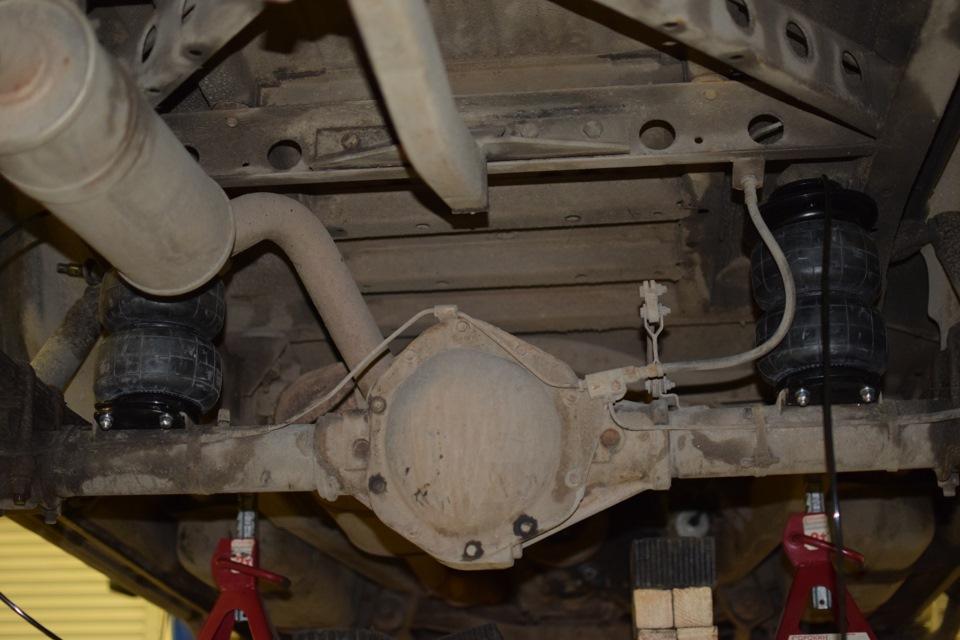 Задняя ось УАЗ Патриот с пневмоэлементами