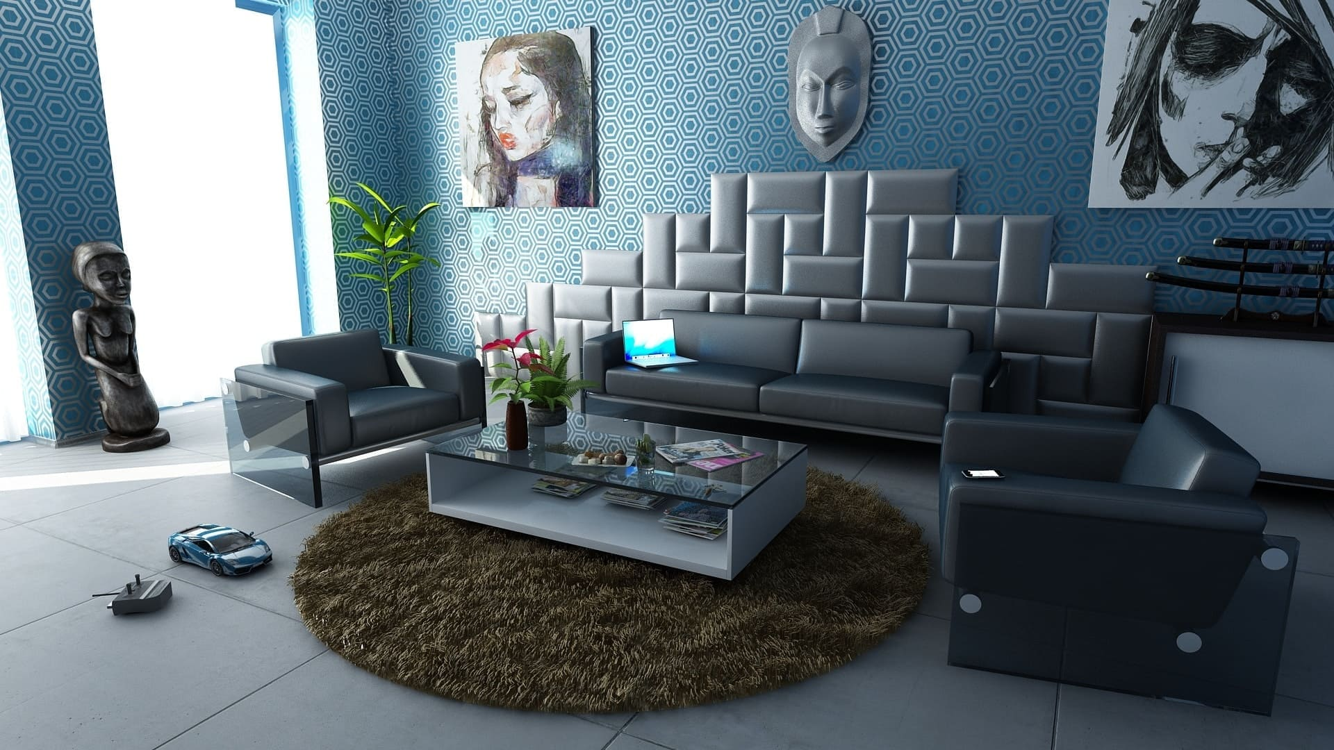 картинка над диваном