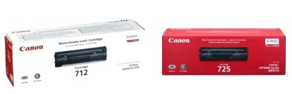 Виды коробок оригинальных картриджей Canon в зависимости от даты выпуска.