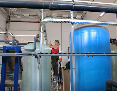 Монтажа модульных станций водоподготовки