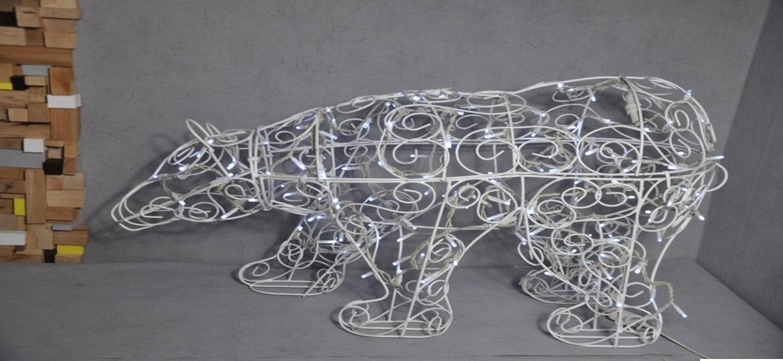 Новогодняя фигура медведя led