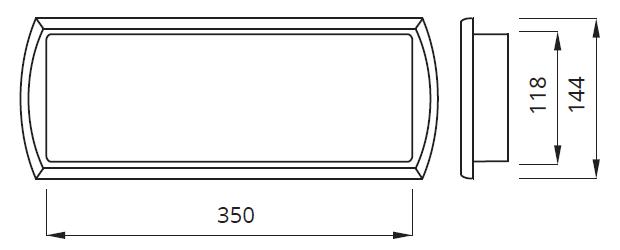 Размер аварийного автономного указателя выход Tiger Awex