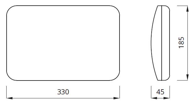 Размер люминесцентного светильника аварийного освещения Panorama