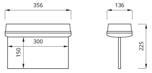 Размер на указатель аварийного освещения путей эвакуации IP42 Helios P Awex