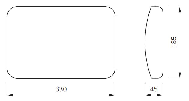 Размер светодиодного светильника аварийного освещения Panorama LED