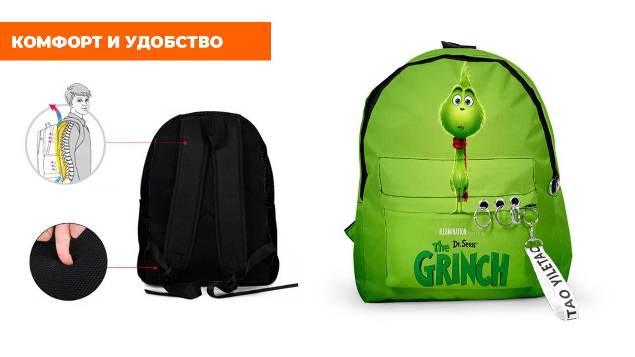 """Рюкзак """"Гринч-похититель Рождества"""""""