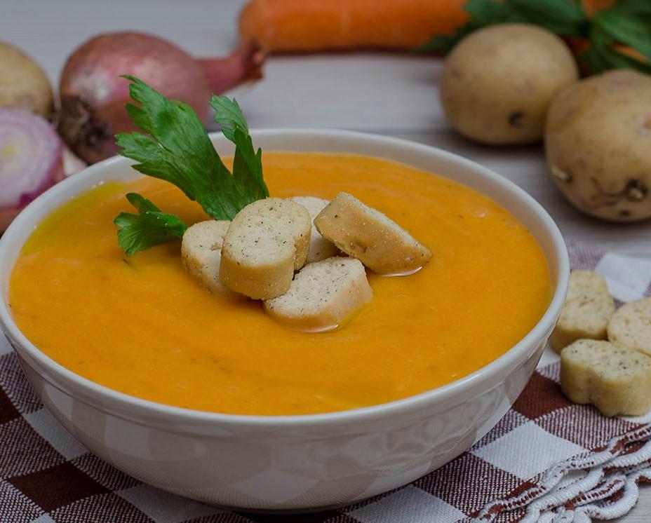 Суп пюре овощной рецепт из моркови с апельсином