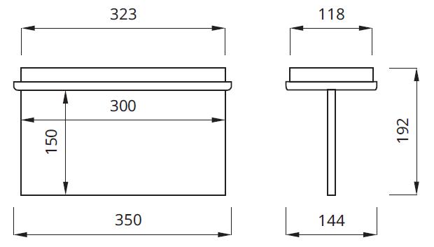 Размер на указатель аварийного эвакуационного освещения выходов IP22 Tiger P Awex