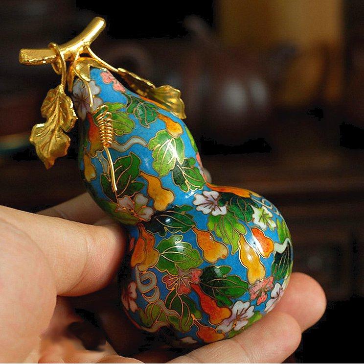 Китайская перегородчатая эмаль клаузоне,  цзинтайлан