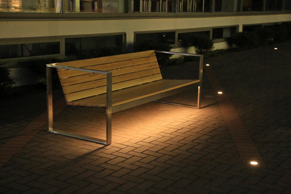 Городская уличная мебель TRIF с подсветкой