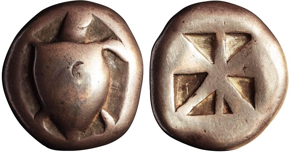 Статер из Эгины (540-520 гг до н.э.)
