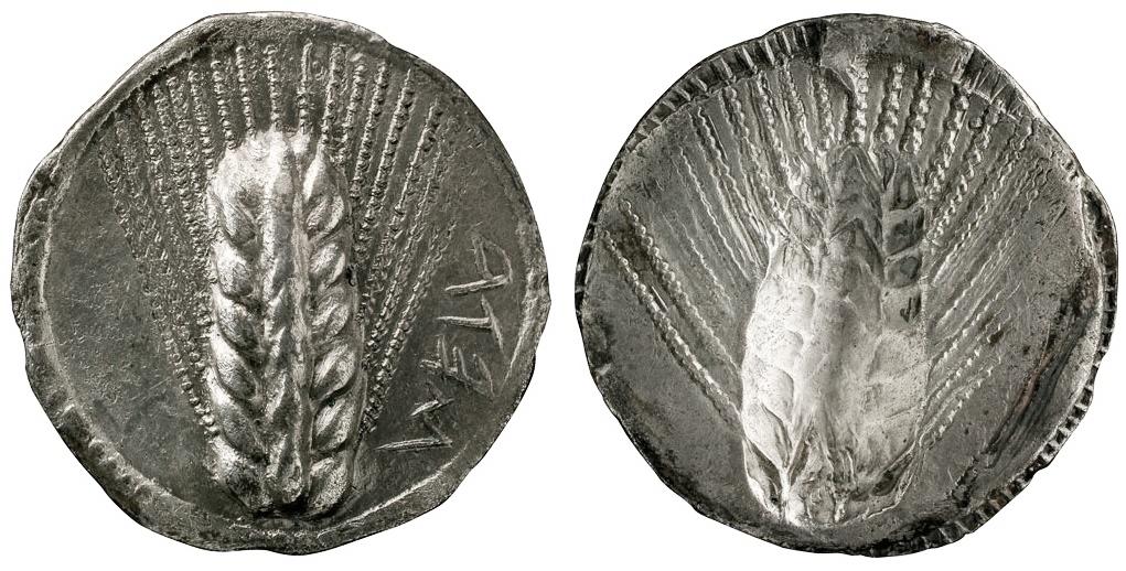 Статер из Метапонта (540-510 гг. до н.э.)