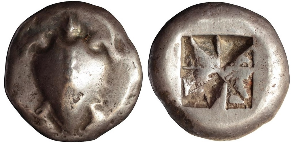 Статер из Эгины (520-480 гг до н.э.)