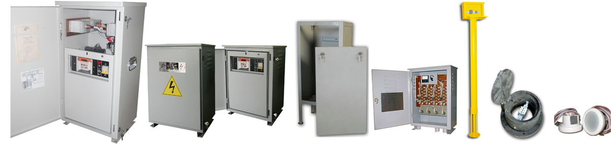 Cathodic protection rectifiers, test-stations, reference electrodes
