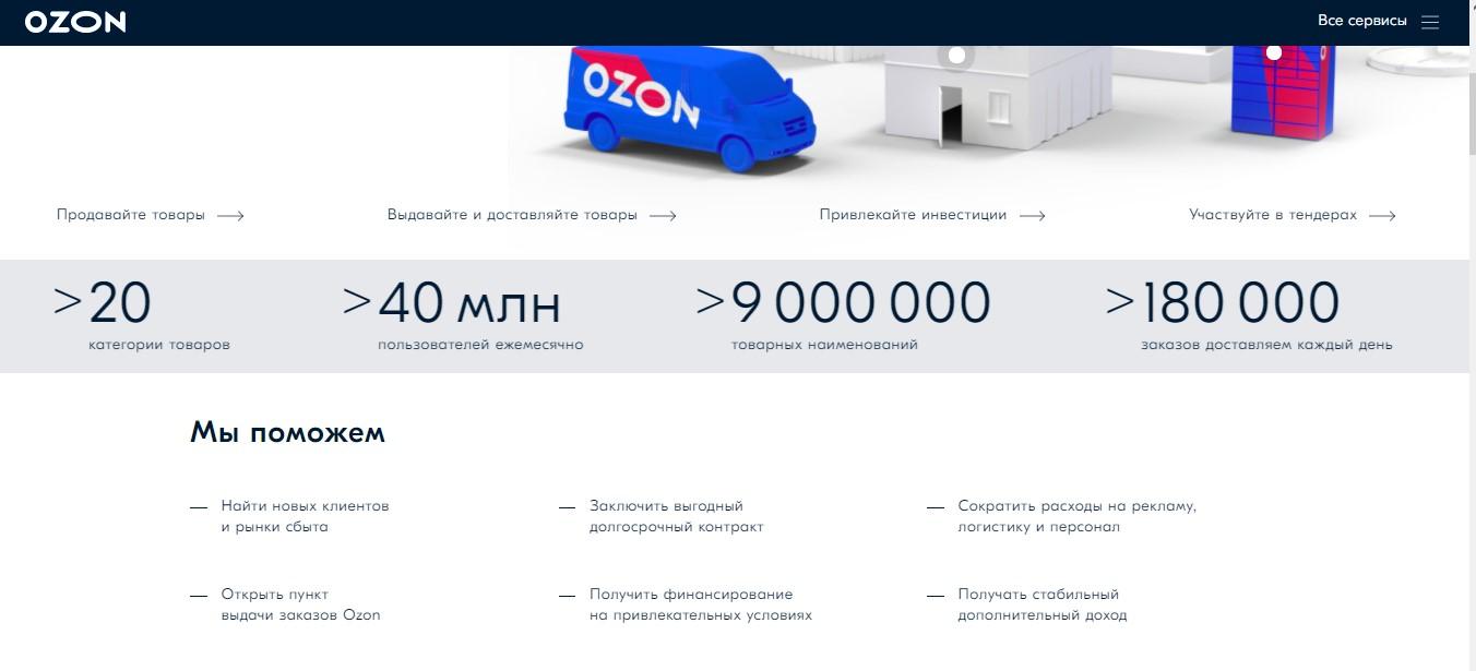 Выгоды для поставщиков на Ozon