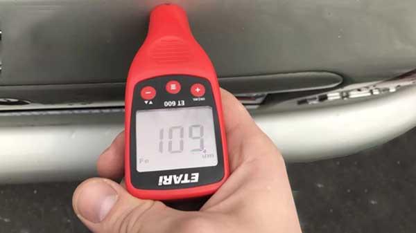 Процесс замера толщиномером Etari (Етари) ET 600